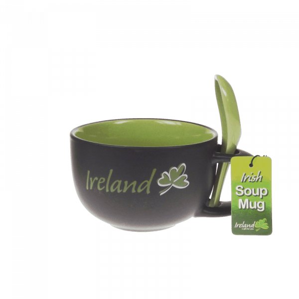 Irish Soup Mug with Spoon