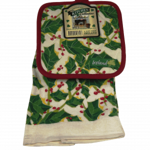 Holly t towel and pot holder