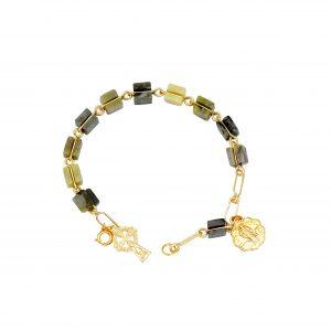 Connemara Marble Rosary Bracelet, Handmade in Ireland