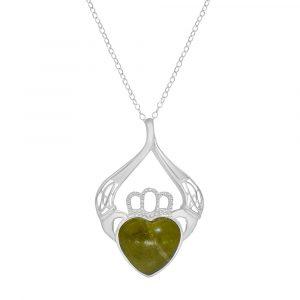 Irish Claddagh Pendant - Irish Jewelry