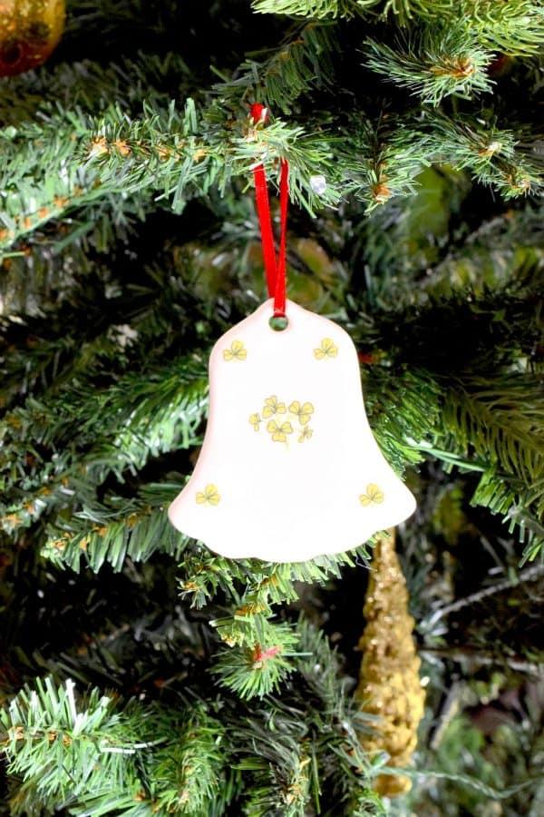 Christmas Decoration with Irish Shamrock