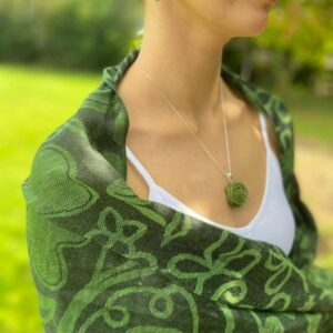 Green Celtic Pashmina Connemara Marble