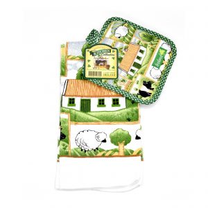 Countryside tea town and pot holder