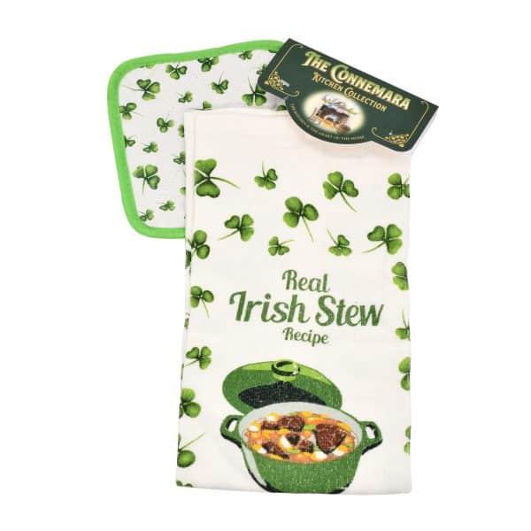 Irish Stew Tea Towel & Pot Holder