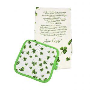 Irish Stew Recipe Tea Towel and Pot Holder 51822