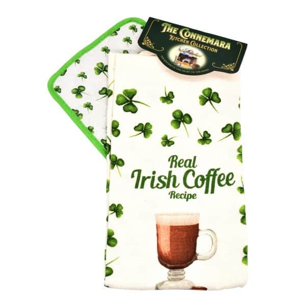 Irish Coffee Tea Towel & Pot Holder