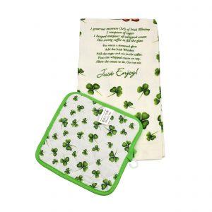 Irish Coffee Recipe Tea Towel and Pot Holder 51824