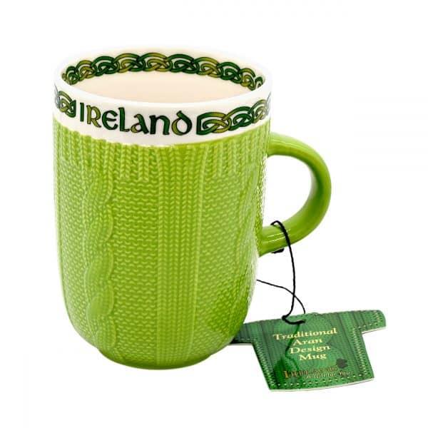 Dark Green Aran Mug 52404