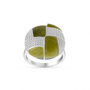 Aran Button Ring