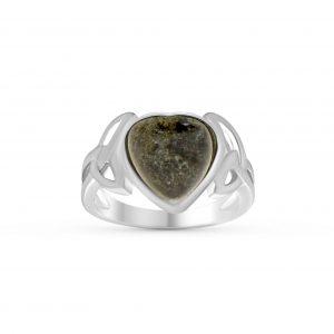 Trinity Knot Heart Ring 1017