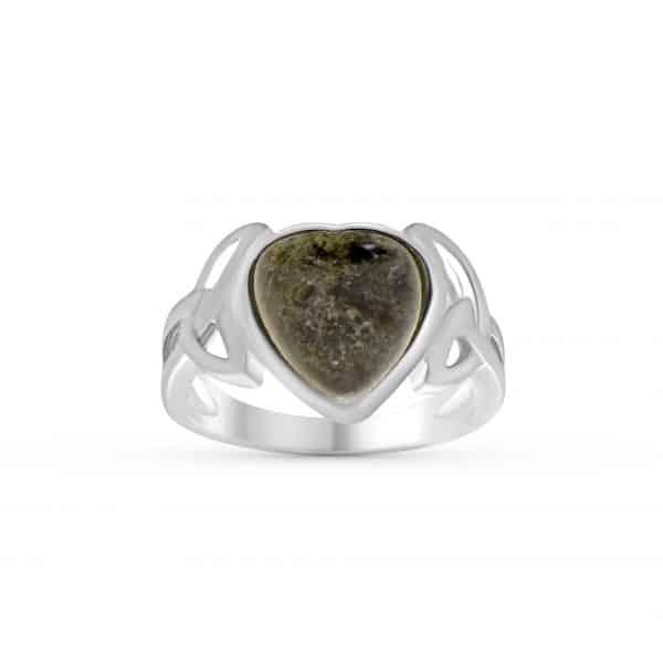 Trinity Knot Heart Ring