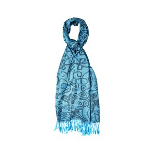 Blue & Black Pashmina Scarf 14808