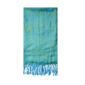 Turquoise Pashmina Scarf 14807