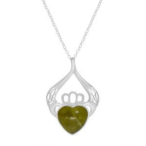 Sterling Silver Claddagh Pendant 1039