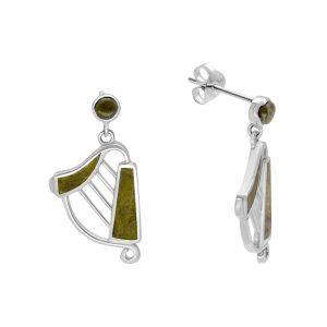 Inlayed Harp Earrings 10905