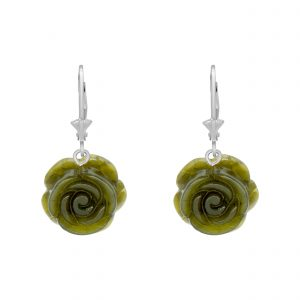 Carved Rose Earrings