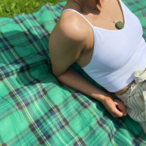 Irish Tartan Fleece Blanket
