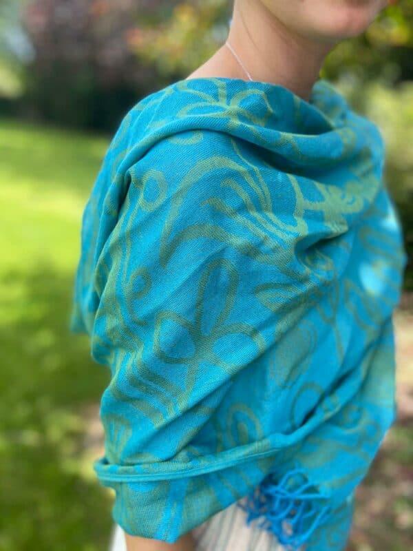 Turquoise Pashmina
