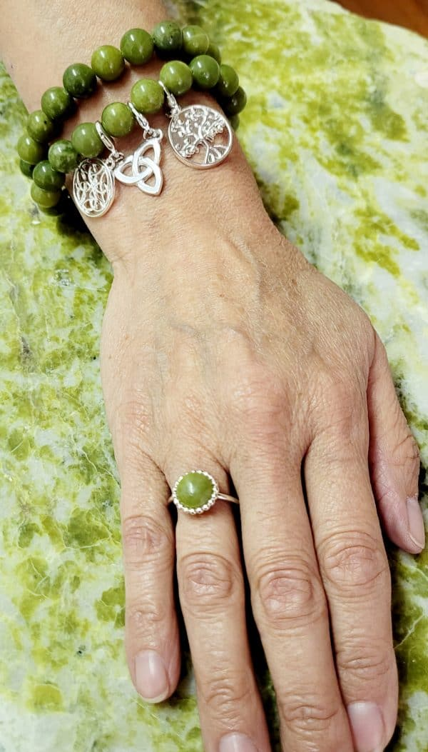 Connemara Marble Sterling Silver Ring