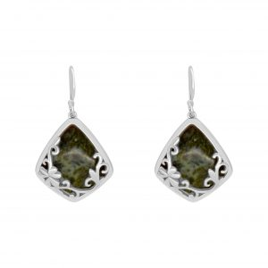 Connemara Marble Diamond Shape Earrings 70046