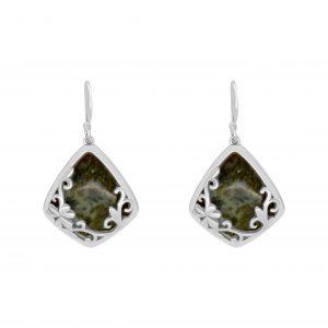 Connemara Marble Diamond Shape Earrings