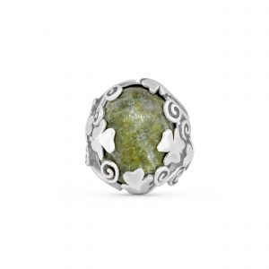 Connemara Marble Sterling Silver Shamrock Ring 10001