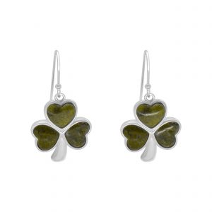 Inlaid Shamrock Earrings 10043