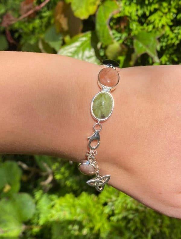 Genuine Connemara Marble set in Irish Sterling Silver