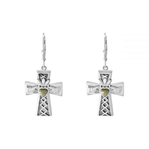 Claddagh Cross Earrings