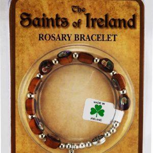 Saints of Ireland Rosary Bracelet