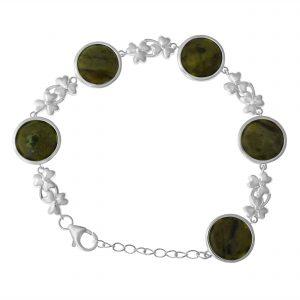 Round link Silver Bracelet 10223