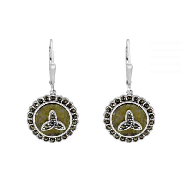 Trinity Knot Marcasite Earrings