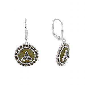 Marcasite Trinity Knot Earrings 70044