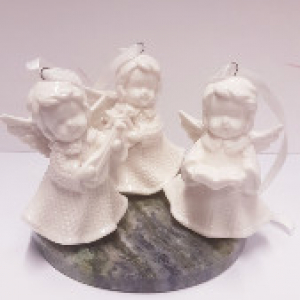 Set of 3 Angels with Connemara Base