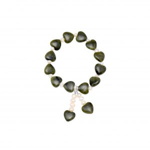Love Heart Bracelet with Fresh Water Pearls