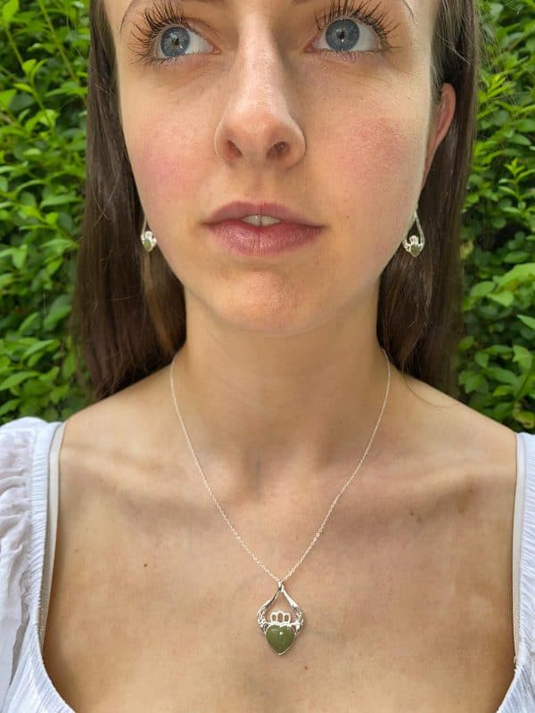 Claddagh Pendant with Earrings