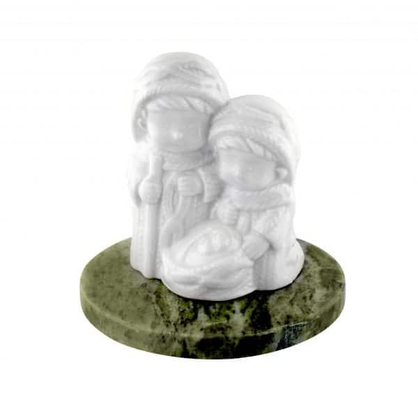 Nativity Set on Connemara Marble. Handmade in Ireland