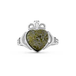 Irish Silver Ring - Connemara Marble + Sterling Silver
