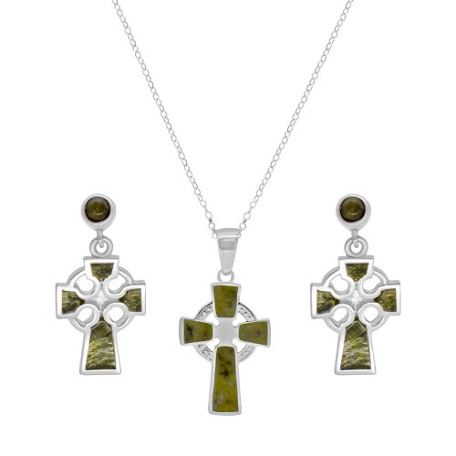 Celtic Cross Necklace with Earrings