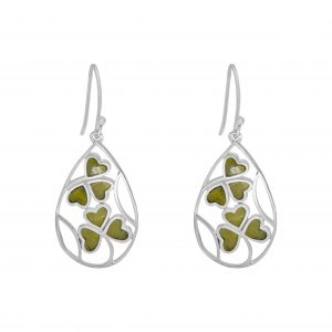 Inlaid Shamrock Earrings