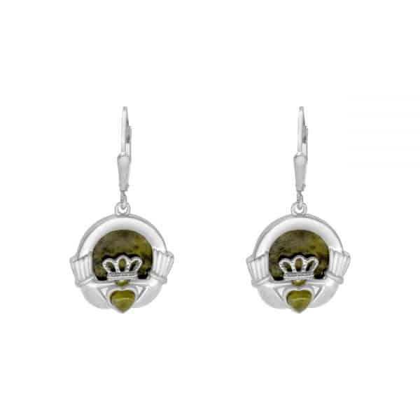 Claddagh Marble Heart Earrings