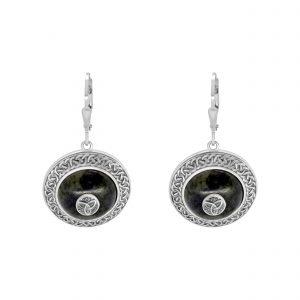 Trinity Knot Shield Earrings