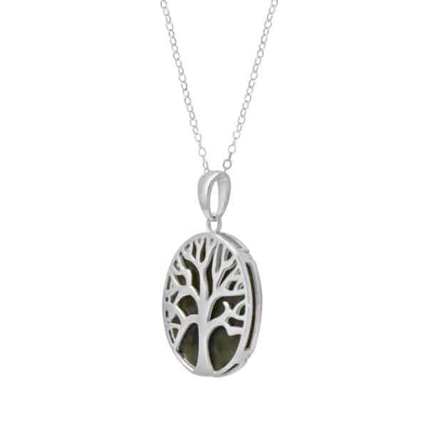 Irish Tree of Life Pendant -Sterling Silver and Connemara marble