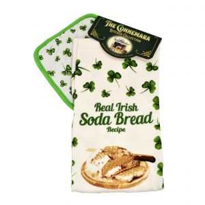Real Irish Soda Bread Recipe on Tea Towel - Irish Gift