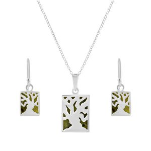 Tree of Life - Connemara Marble set into a sterling silver casing