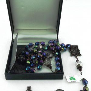 Rosary Beads from Ireland - Connemara Marble and Bronze