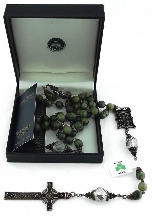 Irish Rosary Beads - Connemara marble