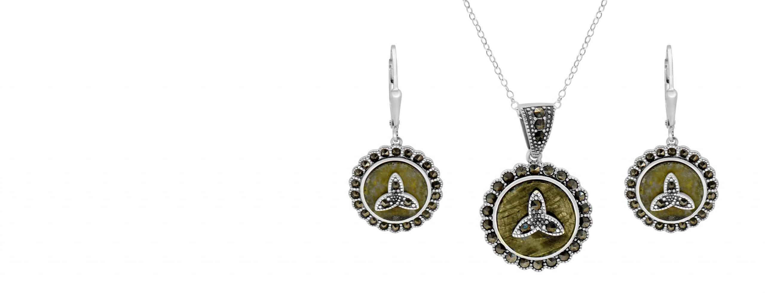 Connemara Marble Trinity Collection