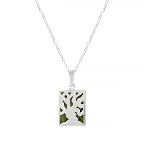 Irish Fairy Tree - Connemara Marble set into a sterling silver casing
