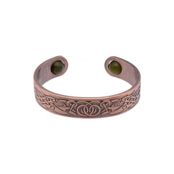 Celtic copper bangle